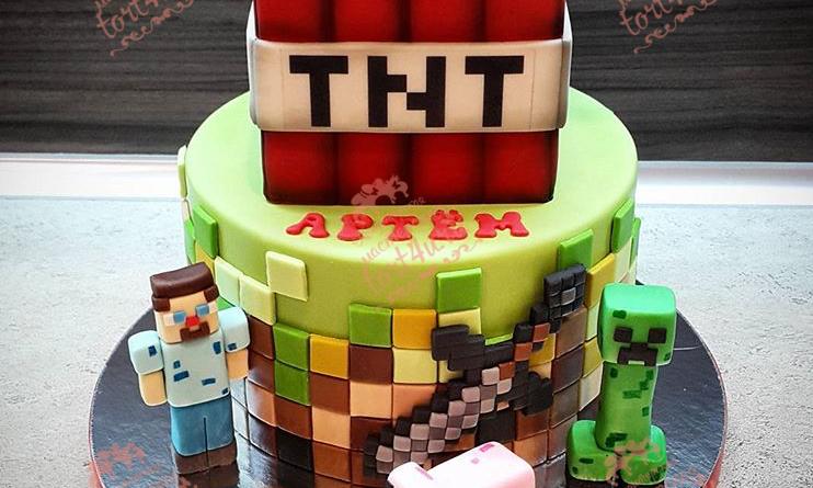 Tort TNT Minecraft